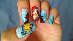 The Little Mermaid Nail art by BbyCashfLow