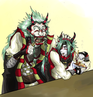 Lunch with uncle-DemonSumerais by ShadiChizu