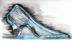 glass slipper by omagrandmother
