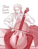 The Cellist by peppermintjam