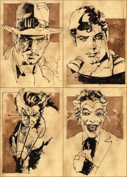 HeroesCon Sketch Cards by markmchaley