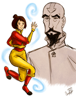Jinora and Dad by Merina-Sky