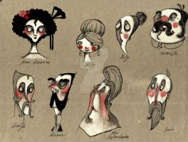 Characters from Anna Karenina by KociGrzbiet