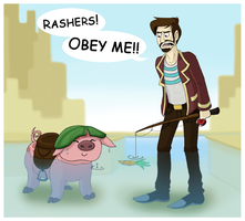 the Yogscast - Rashers II, pig in the furnace by RatherPeculiar
