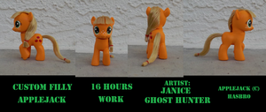 Custom Filly AppleJack by janiceghosthunter