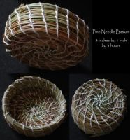 Pine Needle Basket of Threes by Kithplana