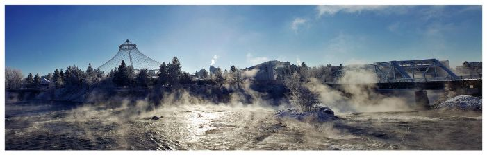 Spokane Winter 2010 Panorama by banjoeskimo