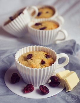 Muffins Chocolat blanc - Cranberry by ClaraLG
