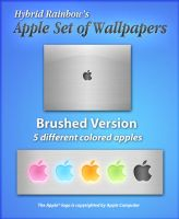 Apple Brushed Set by HybridRainbow2004