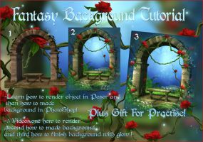 Fantasy Background Tutorial by moonchild-ljilja