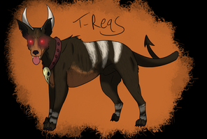 Houndoom- German Shepherd/Labrador Inspired by T-Reqs