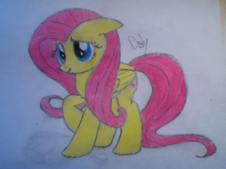 Fluttershy Drawing (Lighting #1) by Dropgasm
