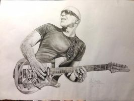 Joe Satriani Pencil Sketch by AimzzArt