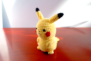 Amigurumi Pikachu 3/4 View by FudgeNuggets