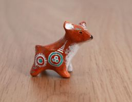 Little deer animal totem, polymer clay by lifedancecreations