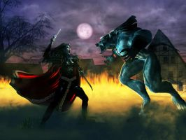Vampire Vs Werewolf by 3D-Fantasy-Art