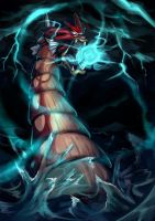 Fav Flying Type - Gyarados by KoiDrake