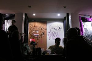 live-drawing 'stage' at Mid Mad Mother Funker by object000
