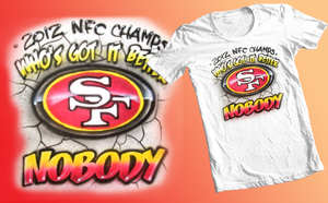 San Francisco 49ers NFC champs shirt by chrisfurguson