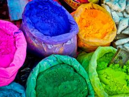 Holi Indian colors by featherwhitey