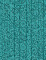 Teal Paisley Star Paper by jakobie-coyote