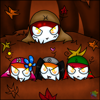 Fall colored tadpoles by Atlanta-Hammy