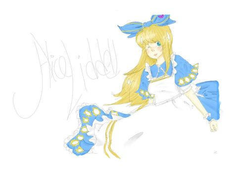 Alice Doodle colored by LaniGirl020