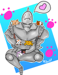 Al and the Kitties! by Muxical