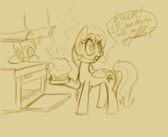 The misterious giant muffin (part 1) by Terkatoriam