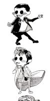 9th 10th  11th Doctors' chibis by orookayasu