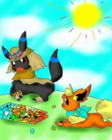SP Flavio and Flara by FlaraTheFlareon