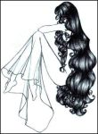 Girl with Long Hair by Oisa