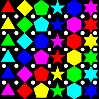 6 colors of polygons by 10binary