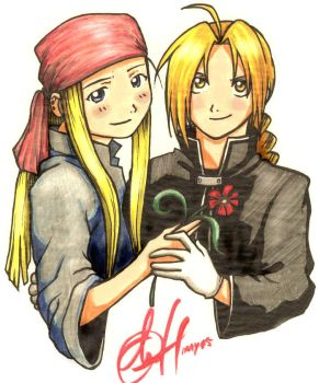 Ed + Winry ver.1 by Chernobylpets