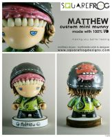 Matthew-personalised munny by SquareFrogDesigns