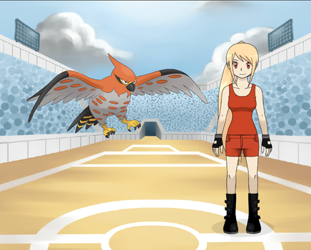 Katie And Talonflame From Pokemon by AlyZZaTheCreator