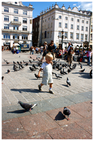 child and pigeons by abus