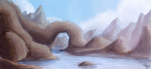 [SP] Just a lake and some rocks + Time Lapse Video by Shynzo-Nai