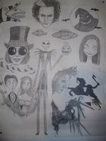 Tim Burton Poster in progress by Messenger777