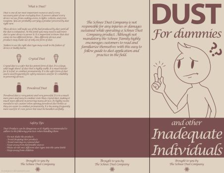 RWBY - DUST For dummies pamphlet by IceNinjaX77