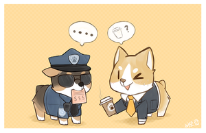 c-c-coffee, officer? by Mousu
