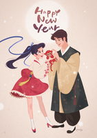 Happy new year by DrawingAnt