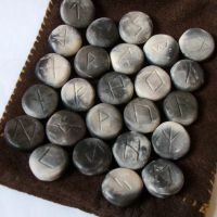 Smoke Fired Clay Rune Set by RowanSong