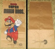 Vintage Super Mario Brothers Lunch Bag by avaneshop