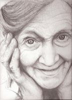 Old lady -  not finished by EshiraArt