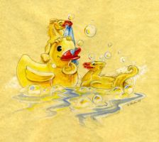 Rubber Ducky Dragons by Hbruton