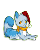 Suineko Christmas Sticker by Whimsy11