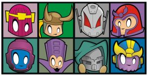 Heads Up Avengers' Villains by HeadsUpStudios