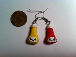Ketchup and Mustard Earrings ~$3 by Jenna7777777