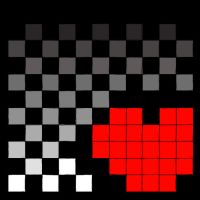 Checkerboard Heart by OboegalRox